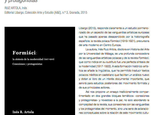 Reseña de Formiści por David Martín López